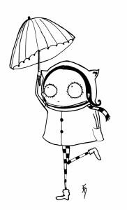 Fillette parapluie