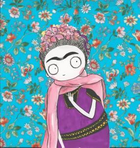 Frida Kalho violette
